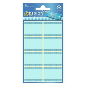 Avery Freezer Labels, Blue Frame, 40 Labels Per 5 Pages
