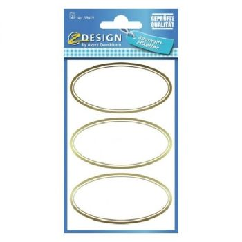 Avery Household Golden Frame Labels, 6 Labels Per 2 Pages
