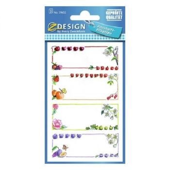 Avery Household Fruit Frame Labels, 12 Labels Per 3 Pages