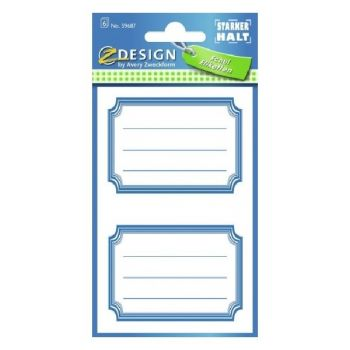 Avery Book Labels With Blue Frames, 12 Labels Per 6 Pages