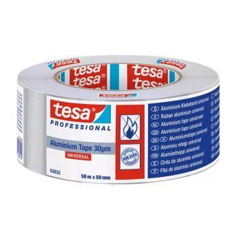 Tesa Universal aluminum Tape, 50mx50mm, Sliver