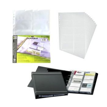 Durable 2389 A4 Transparent Refill Set, 10/Pack, 200 Cards