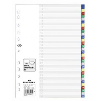 Durable A4 Divider 1-31 Color, 6756