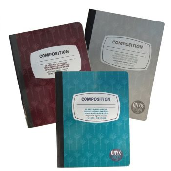 Onyx & Green Composition Notebook, 100 Sheets Of Sugar Cane Paper, Ruled, Eco Friendly (6900), Assorted Color