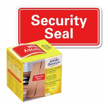 Avery Security Seals With Dispenser , 100 Labels Per Pack