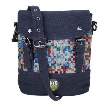 Onyx & Green Ladies Handbag, Made Of Recycled Newspaper And Ramie/Jute Fabric, Eco Friendly (7400)