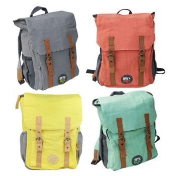 Onyx & Green School Bag, Made Of Ramie/Cotton Fabric, Eco Friendly (7901)