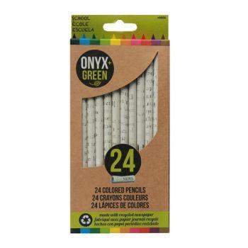 Onyx & Green Color Pencils