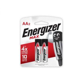 Energizer MAX AA Alkaline Batteries, Pack of 2, 1.5V