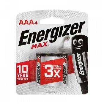 Energizer MAX AAA Alkaline Batteries, Pack of 4, 1.5 Volt