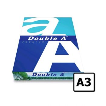 Double A , A3 Paper, 80 GSM, 500 Sheets