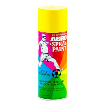 ABRD Spray Paint Yellow Color For All Purpose Fast Dry
