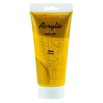 Artmate Acrylic Colour Yellow Ochre 200ml