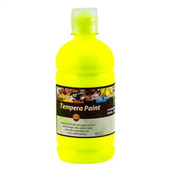 Artmate Tempera Paint Florescent Lemon Yellow 500ml
