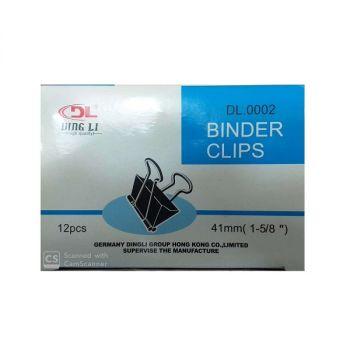 DL- Binder Clip 41 MM , 12 Pcs Per Box