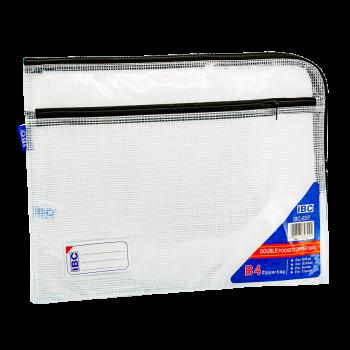 IBC Mesh Double Zipper Bag Curved , Black, IBC-E57