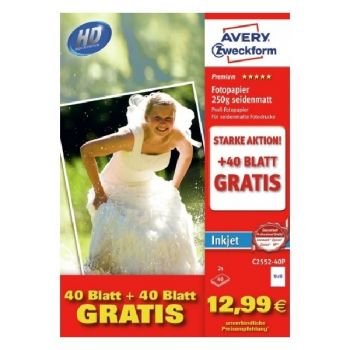 Avery Photo Paper Inkjet, 200G, 80 Sheets Per Pack