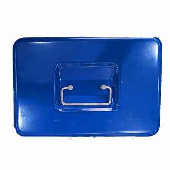 Cash Box With Two Keys Blue 14.5 Inch