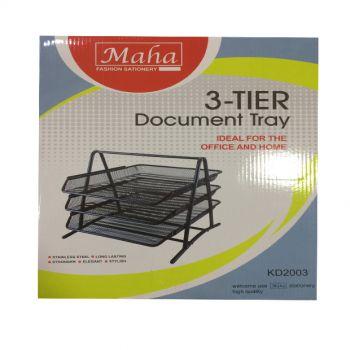 Document Tray 3 Tier Black