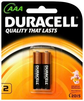 Duracell Batteries / 2 AAA - size