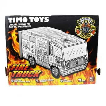 Timo Toy Fire Truck, Card Folding Figure