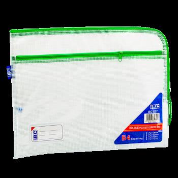 IBC Mesh Double Zipper Bag Curved , Green, IBC-E57