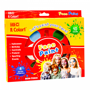 IBC Face Paint Tray 10 Color, IBC-FP-010T