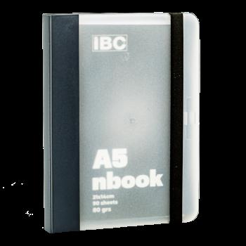 IBC A5 Notebook 90 Sheets Elastic Binder, Grey IBC23NB010