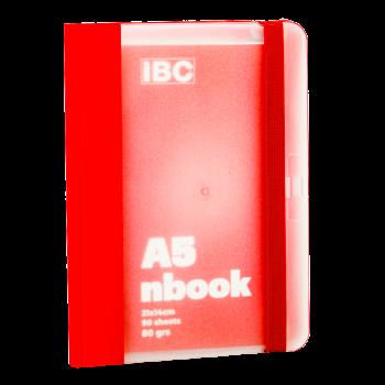 IBC A5 Notebook 90 Sheets Elastic Binder, Red IBC23NB011