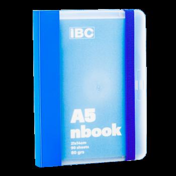 IBC A5 Notebook 90 Sheets Elastic Binder, Blue IBC23NB021