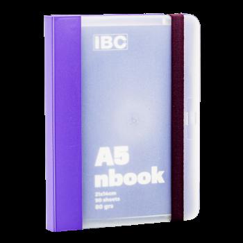 IBC A5 Notebook 90 Sheets Elastic Binder, Violet IBC23NB031