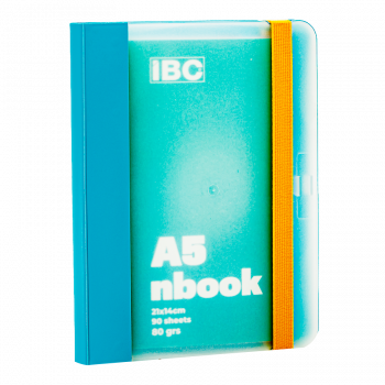 IBC A5 Notebook 90 Sheets Elastic Binder, Turquoise IBC23NB032
