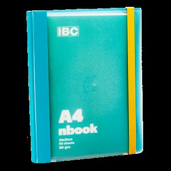 IBC A4 Notebook 90 Sheets Elastic Binder, Turquoise, IBC32NB.032