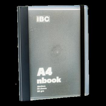 IBC A4 Notebook 90 Sheets Elastic Binder, Grey, IBC32NB010