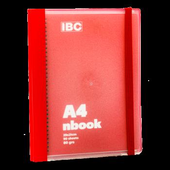 IBC A4 Notebook 90 Sheets Elastic Binder, Red, IBC32NB011