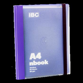 IBC A4 Notebook Elastic Binder, Violet, IBC32NB031