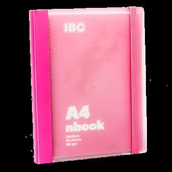 IBC A4 Notebook 90 Sheets Elastic Binder, Pink IBC32NB033