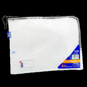 IBC B4 Mesh Zipper Bag Curved , Black, IBC-C57
