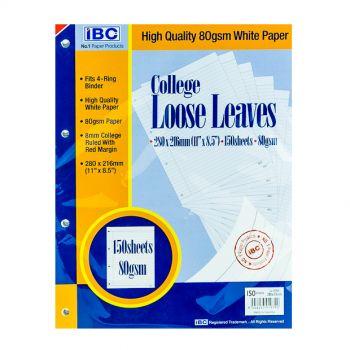 IBC College Loose Leaves 4-Holes 150 Sheets (LL150SH-4)