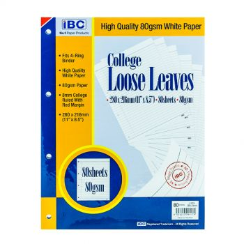 IBC College Loose Leaves 4-Holes 80 Sheets (EIBC060403)