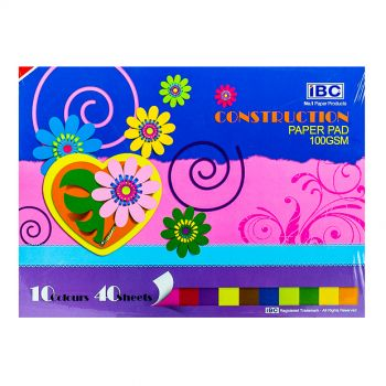 IBC Construction Paper Pad, 10 Colors, 40 Sheets (EIBC080213)