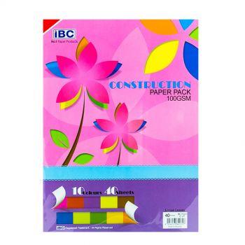 IBC Construction Paper Pad, 10 Colors, 40 Sheets (IBC080212)