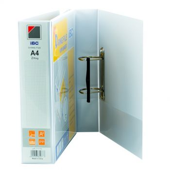 IBC D-Ring View Binder, 1 Inch, 2 Ring, White - (US-152PD)