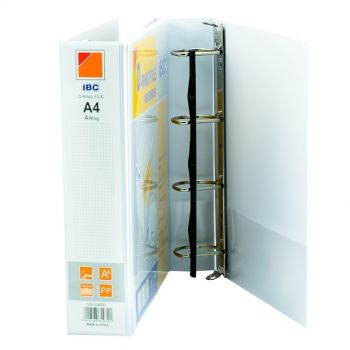 IBC D-Ring View Binder, 1 Inch, 4 Ring,  White - (US-154PD)