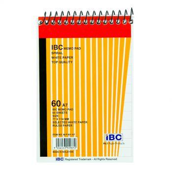 IBC Memo Pad, Spiral, 60 Sheets, A7