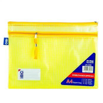 IBC Mesh Bag, Double Zipper, A4 (US-D56)