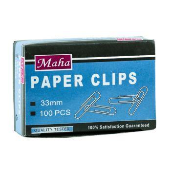 Maha - Paper Clips 33mm , 10 x100 pcs