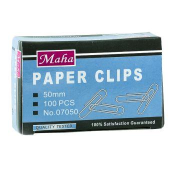 Maha - Paper Clips 50mm , 10 x 100 pcs