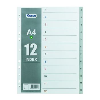 Korse - Plastic Divider with Numbers (1-12)