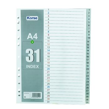 Korse - Plastic Divider with Numbers (1-31)